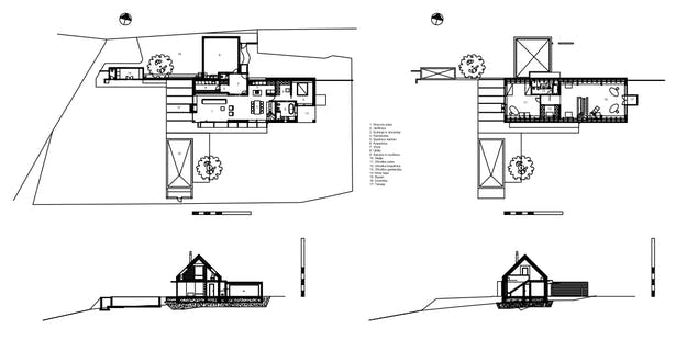 House A, blueprints