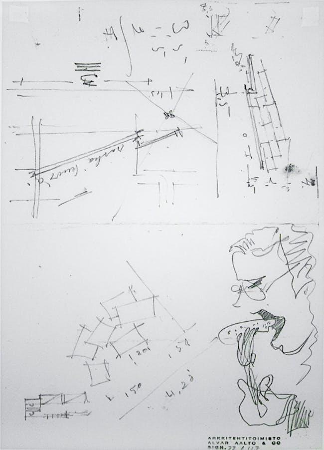 Playful drawing at Säynätsalo Townhall