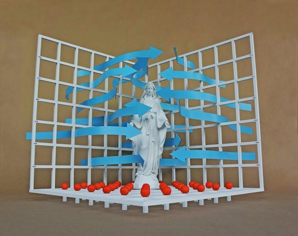 A conceptual sculpture.