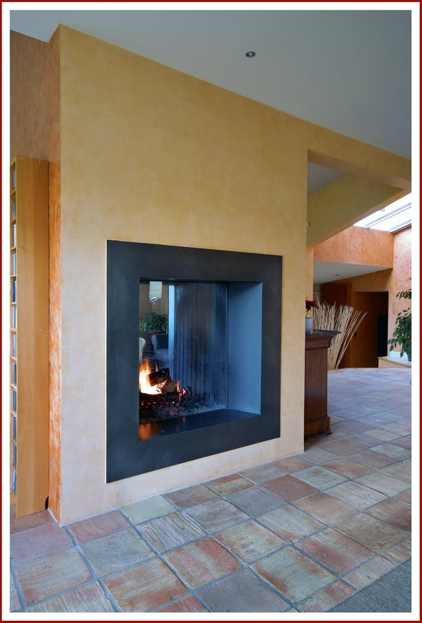 Bloch Design double sided fireplace 3