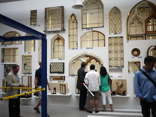 A display of windows at Rem Koolhaas' Venice Biennale exhibition 'Fundamentals.' Credit: Terri Peters