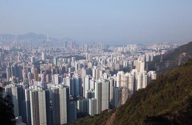 Hong Kong in 2015. Image via the Guardian.