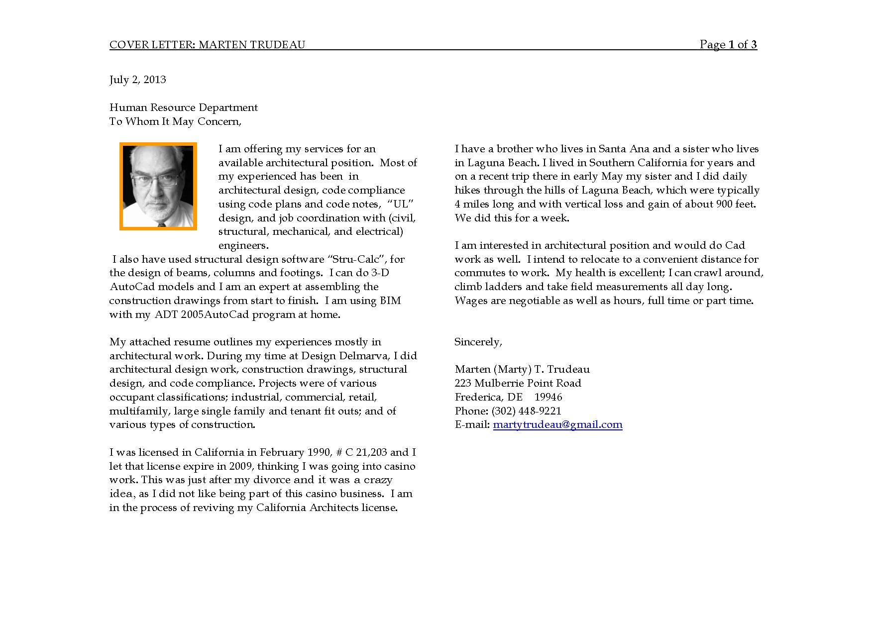 Cover letter and angler office preliminary design marten trudeau cover letter spiritdancerdesigns Images