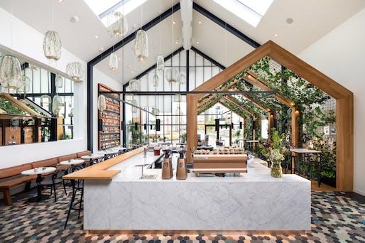 Bars & Restaurants Winner: Harrison Urby – Entrance Café by Concrete. Image credit: Concrete.