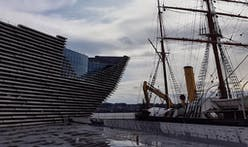 Kengo Kuma visits his ship-like V&A Dundee museum as exterior nears completion