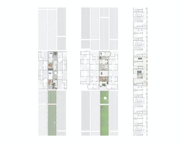 Learning from the Courtyard House: The unit plans are based on the ideals of the traditional Chinese courtyard house. Light, nature and various levels of family spaces are harnessed within the layering of the courtyard typology. The spatial layering of indoor and outdoor provides a gradient from the most public space of the street to the most private space of the bedroom.
