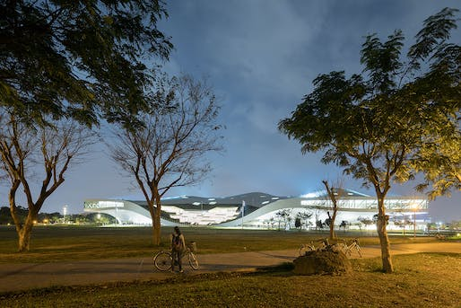National Kaohsiung Center for the Arts (Weiwuying) by Mecanoo in Kaohsiung, Taiwan. Photo: Iwan Baan.