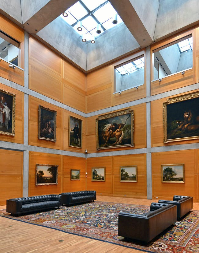 Yale Center for British Art, Library Court following reinstallation, photograph by Michael Marsland.
