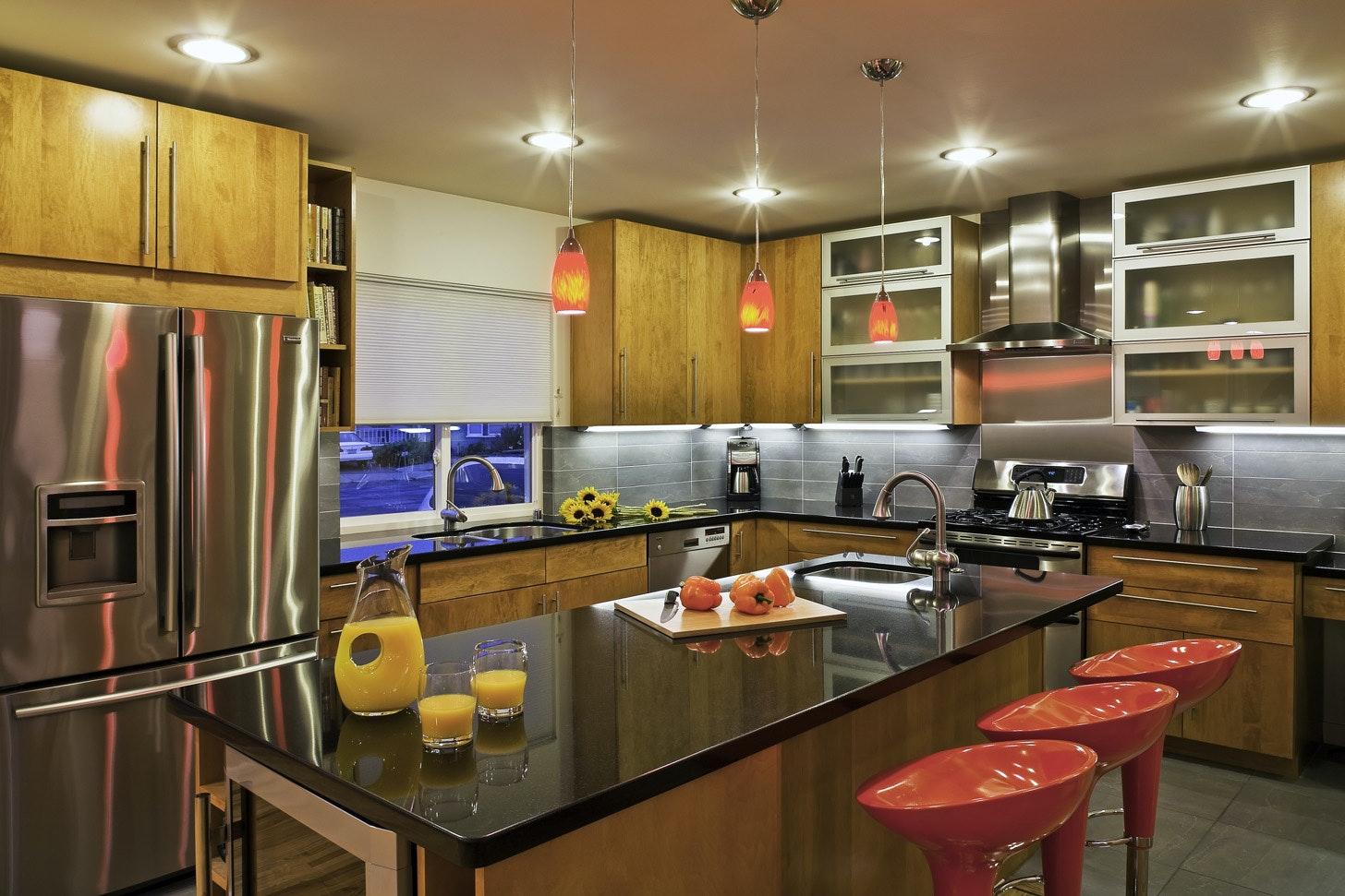 Modern Remodel Of West La Bungalow | Budget Driven Design. Vibrant Kitchen  Design | Indoor
