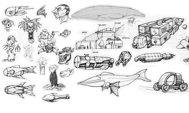 doodles - some pretty weird stuff.
