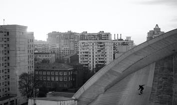 Moscow skaters reclaiming hidden spaces on top of Soviet-era buildings