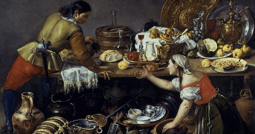 Image: Antonio de Pereda's Two Figures at a Kitchen Table