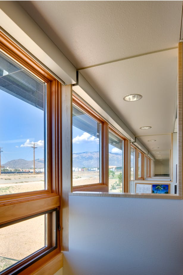 Providers' offices, with views to Sandia Mountains beyond. Image: Patrick Coulie