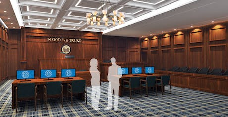 Design proposal of a ceremonial courtroom