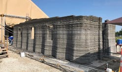 US military 3D prints a concrete barracks prototype