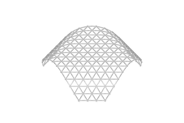grid shell structure - arched