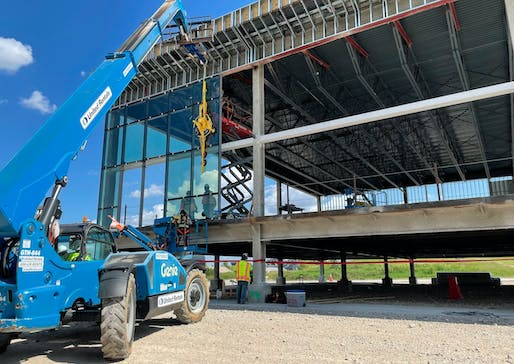 """Dallas Fort Worth International Airport is reconstructing its Terminal C with four prefabricated modular gates. Image: DFW Airport/<a href=""""https://twitter.com/DFWAirport/status/1415038779300192263?ref_src=twsrc%5Etfw"""">Twitter</a>"""