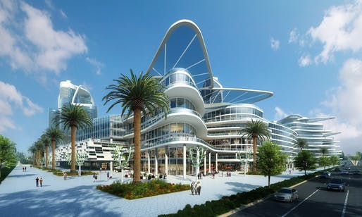View of the proposed Bleutech Park complex slated for Las Vegas.Image courtesy of Bleutech Park Las Vegas.