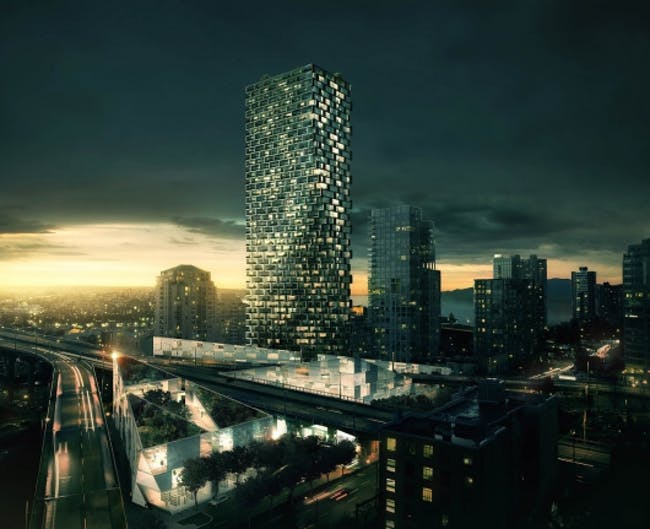 Rendering of the proposed Beach and Howe Tower in Vancouver