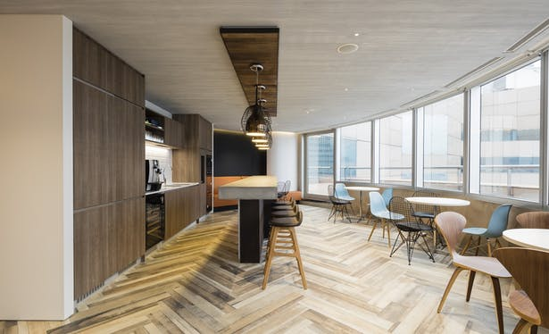 VMS Investment Group Headquarters, Hong Kong, by Aedas Interiors - Business Lounge