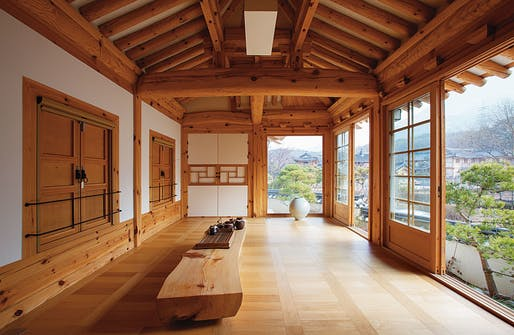 Hanok central living space in Eunpyeong Hanok Village, SKR. Image: JeongMee Yoon.