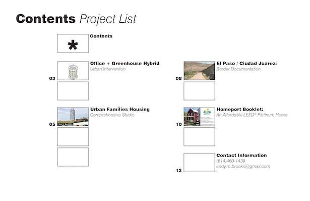 Contents - Work List