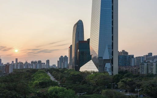"""Related on Archinect: <a href=""""https://archinect.com/news/article/150267023/morphosis-shenzhen-skyscraper-sets-world-record-with-detached-core"""">Morphosis' Shenzhen skyscraper sets world record with detached core</a>"""