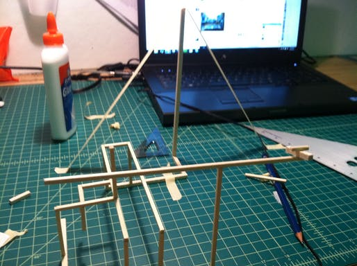 Going a little crazy at the moment. Making a teepee and cantilever for no reason.