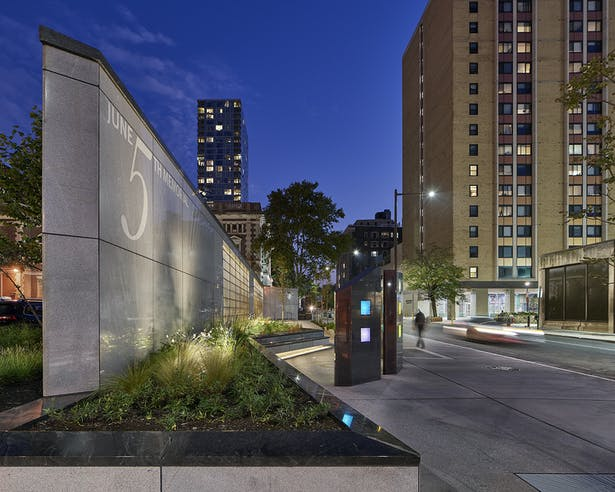 The June 5th Memorial in Philadelphia has received a High Honor Award at the AIA Westchester Hudson Valley (AIA WHV) 2019 Design Awards