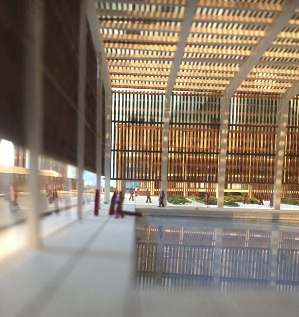 Interior of Aquatic Center