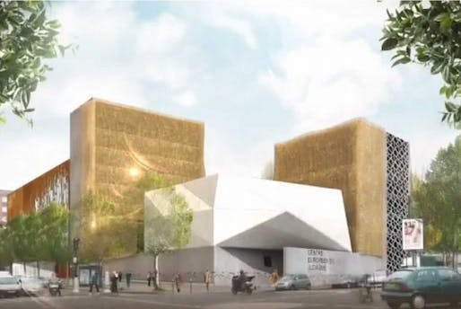 Rendering of the proposed Centre Européen du Judaïsme in Paris. (Image via theartnewspaper.com)
