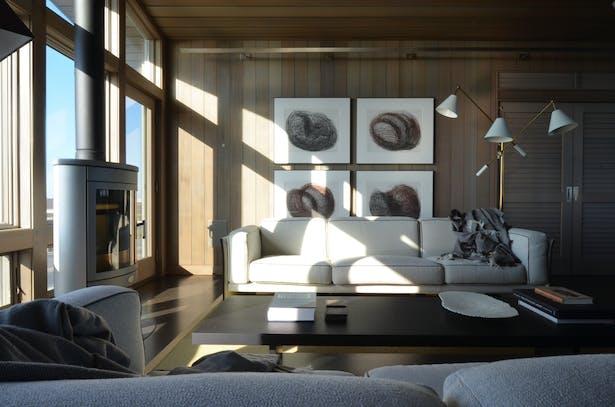 Beach house living area.