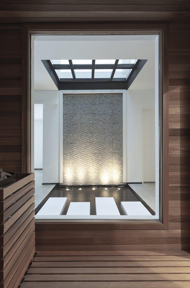 sauna / glass floor / reflection pool