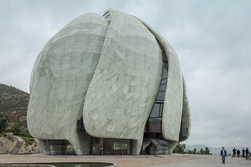 Bahá'í Temple of South America. Structural Designer: Simpson Gumpertz & Heger   Patricio Bertholet M.   Halcrow   Josef Gartner GmbH. Architect: Hariri Pontarini Architects. Image courtesy of 2017 Structural Awards