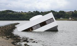 Is that Le Corbusier's Villa Savoye floating in a Danish fjord?