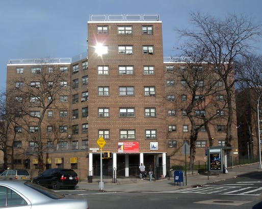View of the Astoria Houses public housing complex in New York City. Image courtesy of Wikimedia user Jim.henderson.