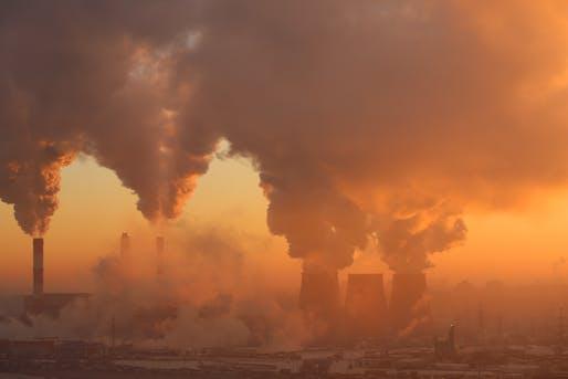 A massive oil refinery in Corpus Christi, Texas. (Photo: Shutterstock) Courtesy of the Sam Fox School of Design & Visual Arts