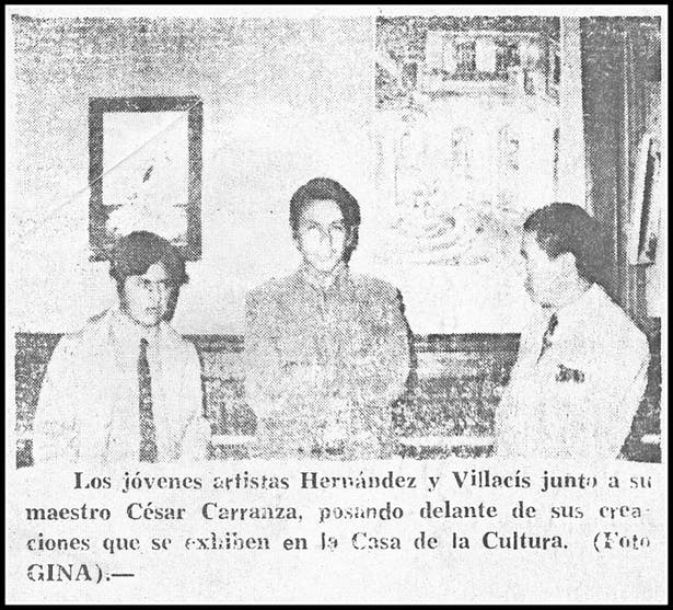 J. F. Bautista Villacis is the first from left to right