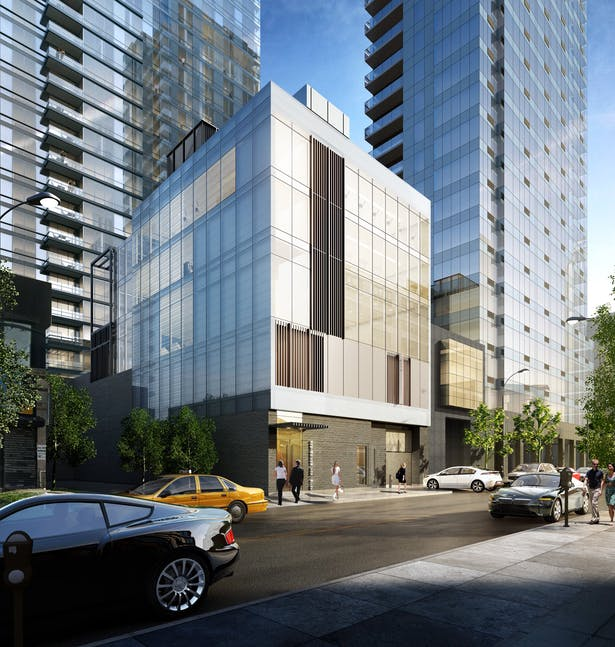Rendering of Amenities Building on 27th street, LIC
