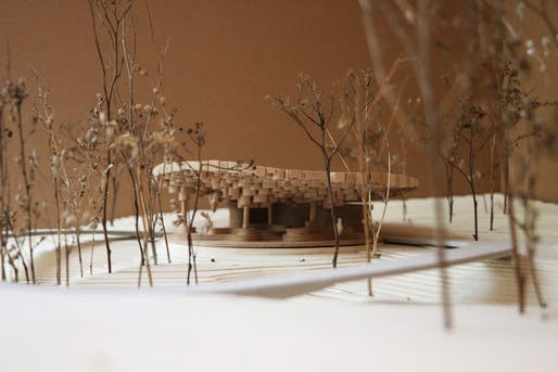 Model of the pavilion. Credit: Francis Kéré.