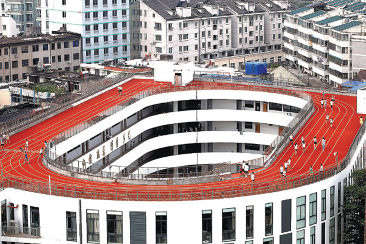 Chinese School Puts Running Track On Its Roof News