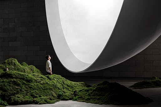 """<a href=""""https://archinect.com/firms/project/150059155/tai-an-s-ceremony-hall-the-hometown-moon/150284221"""">The Hometown Moon</a> in Tai'an, China by <a href=""""https://archinect.com/firms/cover/150059155/syn-architects"""">SYN Architects</a>; Photo: Zheng Yan"""