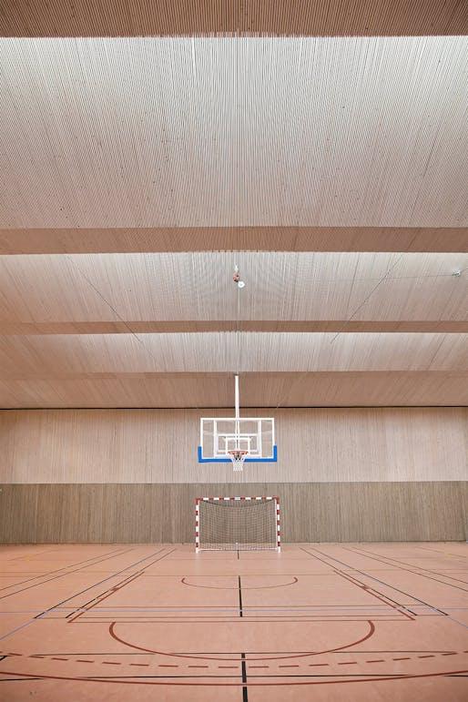 Pajol Sports Centre in Paris, France by Brisac Gonzalez Architects; Photo: Géraldine Andrieu/Hélène Robert