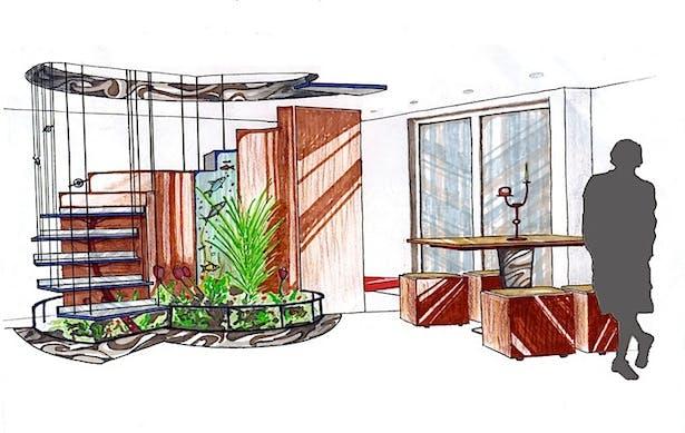 Conceptual staircase for an apartment in Edinburgh.