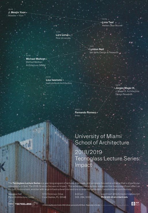 Poster courtesy of University of Miami School of Architecture.