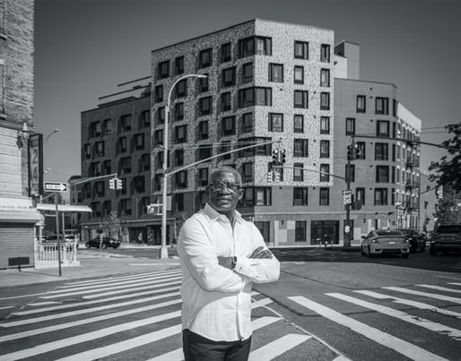 """Victor Body-Lawson awarded the Leadership in Housing Award from AIA New York - """"Body-Lawson's significant impact in affordable housing alone includes over 3,000 homes including supportive, workforce, transitional and senior apartments. He has also taught a generation of emerging architects as professor andcritic from 1999 to today, totaling 600-plus students, bringing many of themtoGhana to share urban design ideas globally."""" Image by Erik Rank"""