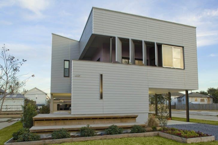 The Milne house by Bild Design raises the single-family home while maintaining a connection with the garden. Image credit: Bild Design