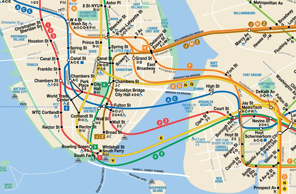 Map Of The New York Subway.Influential New York City Subway Map Designer Michael Hertz Has Died News Archinect