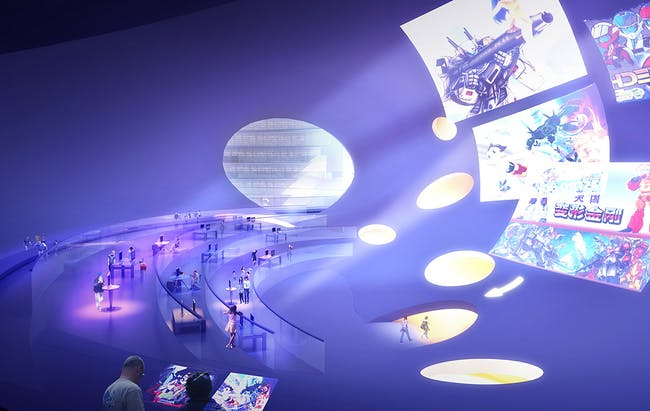 Visualization, interaction hall © MVRDV