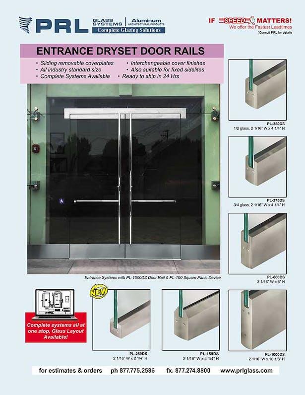 all glass door rails